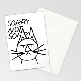 FeltTipCat - Sorry Not Sorry Cat Stationery Cards