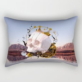 3D ABSTRACT - GOLD - GLASS - OIL - PORCELAIN Rectangular Pillow