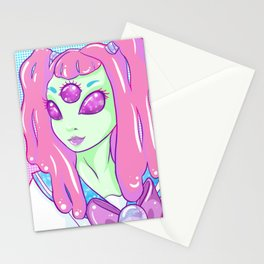 Galactic Schoolgirl Stationery Cards