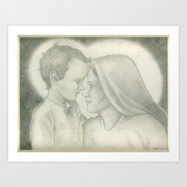 Child Jesus and Mary Art Print