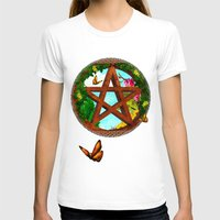 pagan T-shirts featuring Oasis Pagan Folk Art by BohemianBound
