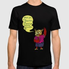 What you pay attention to is what you become conscious of SMALL Mens Fitted Tee Black