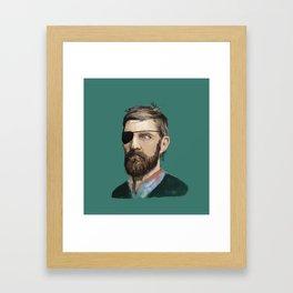 Hipster Pirate Framed Art Print