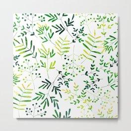 Four Plants Pattern Metal Print