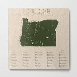 Oregon Parks Metal Print
