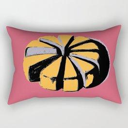 Blue cheese in pink art print Rectangular Pillow