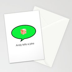 andy tells a clean joke Stationery Cards