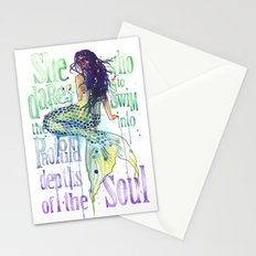 Mermaid : Profound Depths Stationery Cards