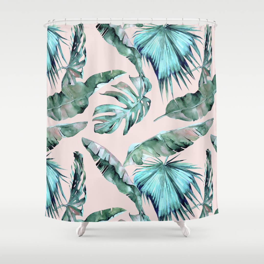 Green, Monstera, Pop-art and Vector Shower Curtains | Society6