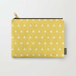 Triangles on a Sea of Yellow Carry-All Pouch
