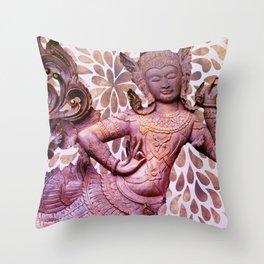 The Mermaid Goddess Throw Pillow