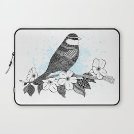 Bird and cherry blossoms Laptop Sleeve