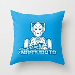 Domo Arigato Mr. Cyberman Throw Pillow