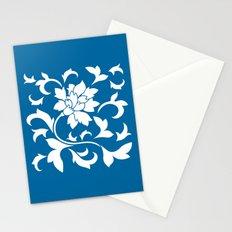 Oriental Flower - Snorkel Blue Stationery Cards