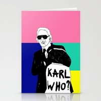 karl lagerfeld Stationery Cards featuring KARL WHO by TEN-iD