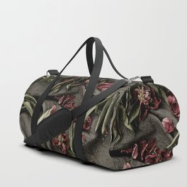 """Peonies are beautiful from the """"bud to to the end."""" Duffle Bag"""