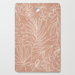 Engraved Tropical Line Cutting Board