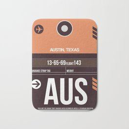 AUS Austin Luggage Tag 2 Bath Mat