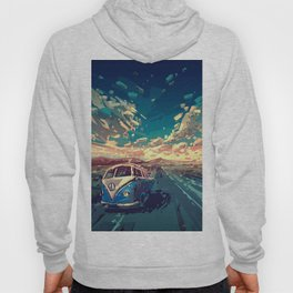 summer road landscape Hoody