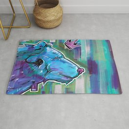 Blue Bear King Rug
