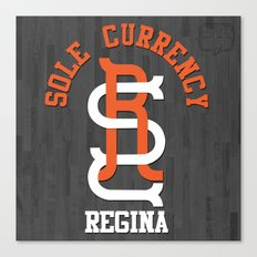 Sole Currency Regina Canvas Print