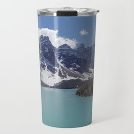 Lake Moraine Top View Travel Mug