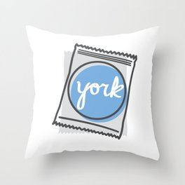 York Mint Throw Pillow