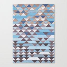 Triangle Pattern No.6 Crisp Blue Canvas Print