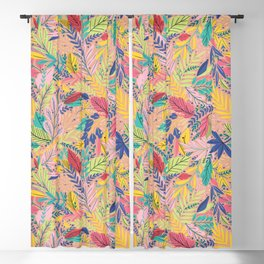 Fruit Tea Florals - Nectarine Blackout Curtain