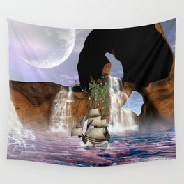View over the ocean Wall Tapestry