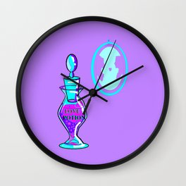 Love Potion with Cameo in Jewel Tones Wall Clock