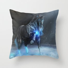 Frozen Flames Throw Pillow
