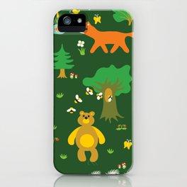 Fox Pattern iPhone Case