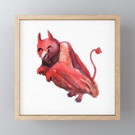 demon lovebird Framed Mini Art Print