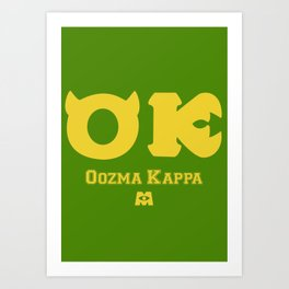 Oozma Kappa (Monsters University) Art Print