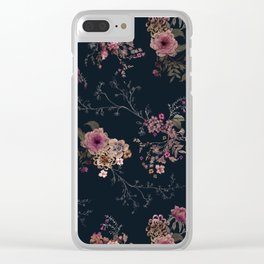 Japanese Boho Floral Clear iPhone Case