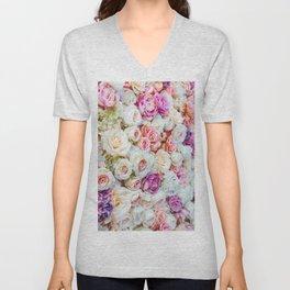 Colorful Roses Unisex V-Neck