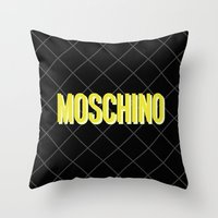 moschino Throw Pillows featuring MOSCHINO Quilted Bag by RickyRicardo787