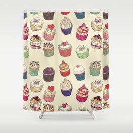 Margery's Lil Cupcake Shop Shower Curtain