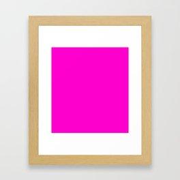 Pink neon color bright summer Framed Art Print