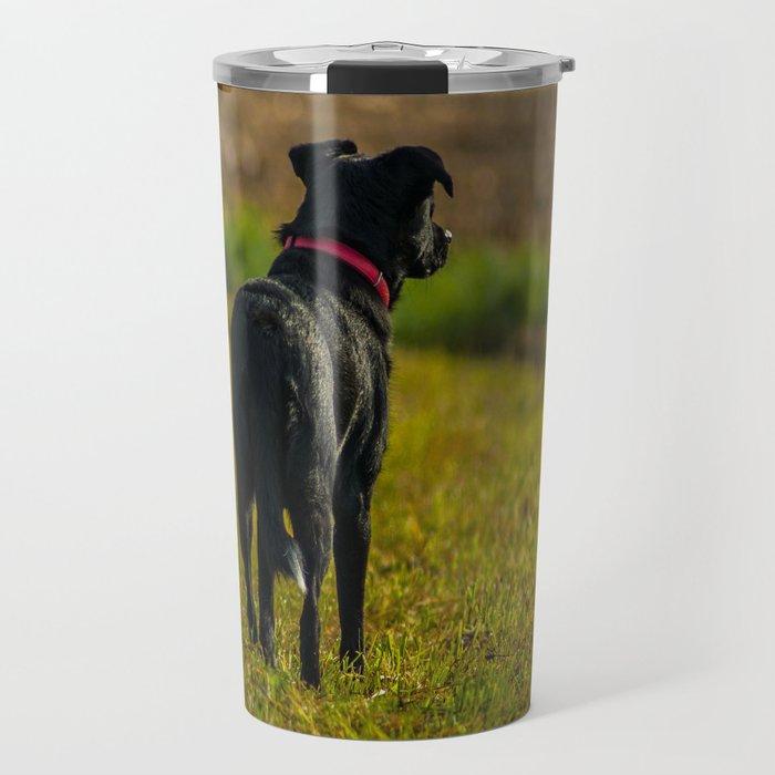 Watching dog Travel Mug