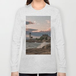 Annisquam Lighthouse sunset Long Sleeve T-shirt