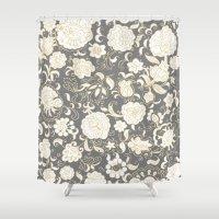 boho Shower Curtains featuring boho paisley by Ariadne