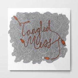 Tangled Mess Metal Print