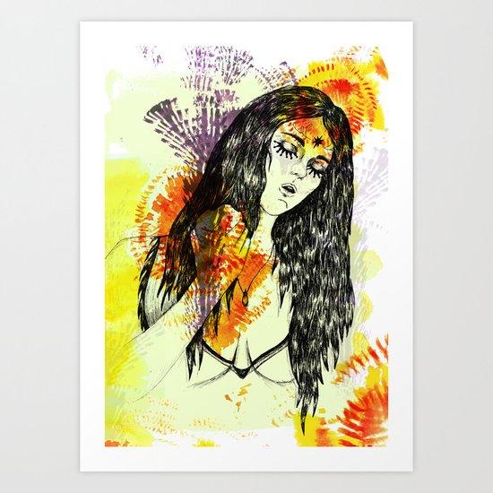 Tribal Beauty 3 Art Print