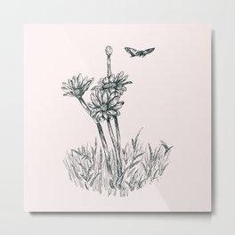 Flutter On Metal Print