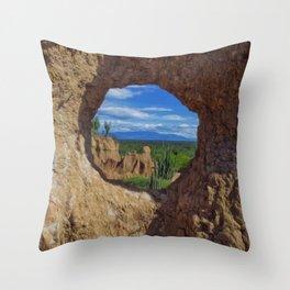 Window Tatacoa Throw Pillow