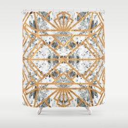 Marble Deco Shade One; Shower Curtain