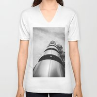 building V-neck T-shirts featuring Lloyds building by Solar Designs