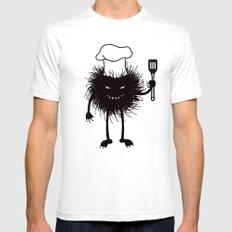 Evil Bug Chef Loves To Cook Mens Fitted Tee SMALL White